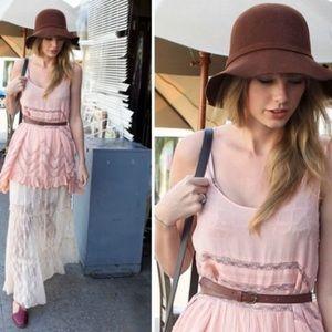 Free people rusty pink trapeze dress